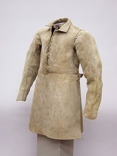 Buff Coat  Date:     17th–18th century Culture:     European Medium:     Leather, string laces Dimensions:     L., 35 in. (88.9 cm) Accession Number:     29.158.885