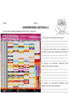 Idees de classe Petits textos i imatges de comprensió lectora que inclouen un exercici d'expressió escrita Pequeños textos e imágenes de comprensión lectora que incluyen un ejercicio de expresión escrita