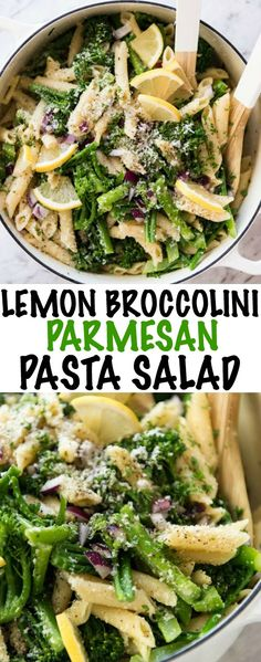 A fabulous pasta salad loaded with vibrant, fresh lemon flavours, parmesan cheese and the goodness of broccolini. One of my favorite spring salads!