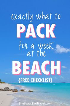 Beach packing list - with printable checklist! This guide has everything from beach essentials to the best packing tips for your upcoming beach vacation. Simplify your packing and don't overpack!  #packingtips #beachvacation #packinglist #beachpackinglist #minimalisttravel #minimalistpacking