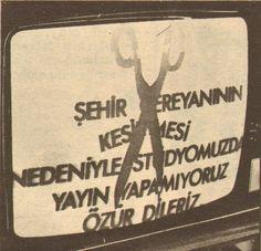 1975 yılından bir televizyon manzarası.