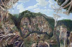blastedheath: William Robinson (Australian, b. Summer Landscape Numinbah, Oil on linen, 122 x 183 cm. Impressionist Landscape, Abstract Landscape, Landscape Paintings, Landscapes, Australian Painting, Australian Artists, Summer Landscape, Modern Landscaping, Contemporary Landscape