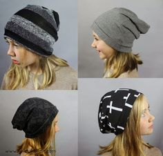 Project 2 for kids clothes week - HATS! more specifically oh so cool slouchy beanies! Somehow my kids seem to lose about 10 hats each fall/winter season, and we are scrambling in late February to find