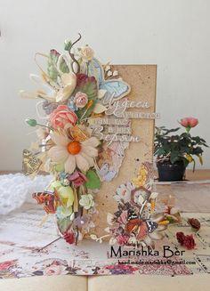 "Marishka Ber: Цветочная открытка. ПД блога ""Избушка Бабы Яги"""