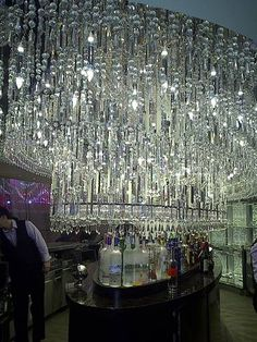 The Chandelier Bar at Cosmopolitan Hotel in Las Vegas...a must see if your thirsty. ;-}