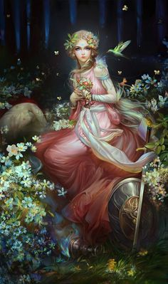 Realismo y Fantasía... A esta imagen bellísima yo la llamo Hechizado.