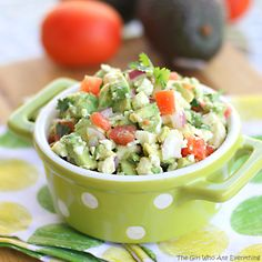 Avocado Feta Salsa - A chunky guacamole with feta. So addictive. the-girl-who-ate-everything.com