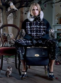 collections-from-vogue: Cara Delevingne By Tim Walker For Mulberry, Fall 2013
