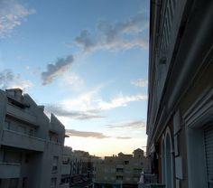 evening sky over Roquetas