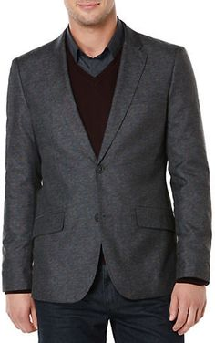 Perry Ellis Slim Fit Two-Button Jacket