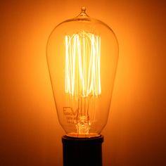 Lot of 5 Amber Swirl Flame Light Bulbs Medium Base VTG Christmas Decor 25 Watt