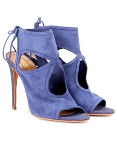 Aquazzura ~ Periwinkle Blue Suede Sandals