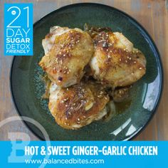 This Hot & Sweet Ginger-Garlic Chicken Recipe is Paleo, gluten-free, and Sugar Detox friendly Primal Recipes, Whole Food Recipes, Cooking Recipes, Healthy Recipes, Cooking Time, Paleo Meals, Paleo Food, Healthy Dinners, Healthy Foods