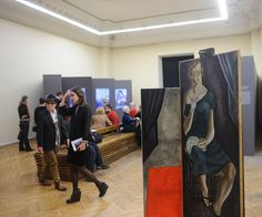 """Matts Leiderstam, an artist from Sweden, took four paintings from the vaults of the Kyiv-based museum, once sentenced to destruction for their formalism, and displayed them in several of the exhibition halls in a particular way. In a way that the viewer meets """"face to face"""" with them. The project is titled """"Unknown Artist"""". #interdema #exhibition #event #fashion #design #kiev #дизайн #мероприятие #мода"""