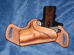 Unique conceal carry! 1911 Leather Holster, 1911 Holster, Custom Leather Holsters, Pistol Holster, Leather Pouch, Revolver, Leather Tooling, Leather Hats, Leather Craft