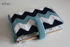 Tales from a happy house.: A Crocheted Chevron Filofax Cover