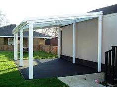 Image result for tin roof lean to free standing