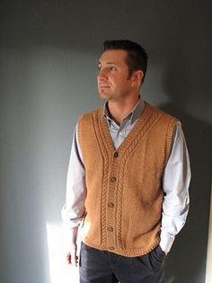 FREE pattern ~ Ravelry: Classic Camel Vest pattern by Tara Jon Manning Mens Knit Sweater, Crochet Men, Knit Vest Pattern, Sharp Dressed Man, Knitting Designs, Knitting Patterns, Pulls, Cardigan Fashion, Men's Knits