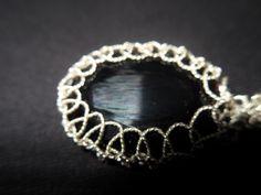 HÇ1000 ayar gümüş burgu telle yapılmış kolye ucu