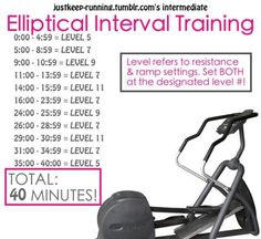 40 Minute Eliptical Interval Training