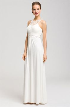 JS Boutique Beaded Collar Halter Gown | Nordstrom