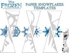 Copos de Nieve de Frozen para recortar en papel :: Disney Frozen snowflake template