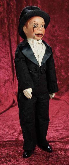 Charlie Mccarthy, Mc Carthy, Famous Historical Figures, Effanbee Dolls, Brown Paint, Antique Dolls, Vintage Toys, Pop Culture, Nostalgia