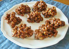 HONEY NUT CHEERIO TREATS WITH PEANUT BUTTER, CHOCOLATE AND MARSHMALLOW