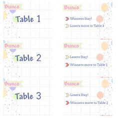 Free Printable Bunco Rules And Score Sheets  Scribd  Girls