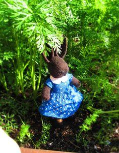 Knit Bunny-Knit Toy-Bunny Toys-Bunny Doll-Stuffed Bunny