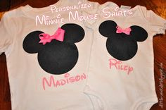 DIY Personalized Minnie Mouse Shirt | Craft | A little about A Lot