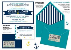 Nautical Wedding Invitation by CoppiaCreativa on Etsy, $3.65
