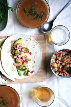 Shrimp Tacos and Watermelon Soup I The Fox and The Knife
