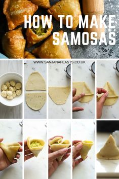 Learn how to make The Best Vegetable Samosas, a. Indian vegetarian samosas stuffed with potatoes and peas. A step-by-step recipe + homemade pastry. Pakora Recipes, Curry Recipes, Vegetarian Recipes, Cooking Recipes, Beef Samosa Recipe, Healthy Recipes, Samosas, Comida India, Tapas