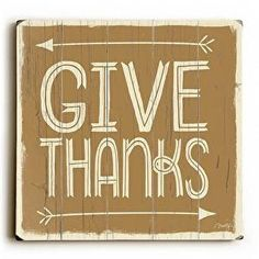 This Give Thanks wood sign by Artist Misty Diller adds a festive style to your fall decor.