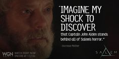 SALEM Stephen Lang, Witch Trials, American History, Avatar, Amazing, Us History