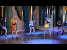 Titanium (Madilyn Bailey cover) Beginner Pole Dance Routine 8-3-15 - YouTube