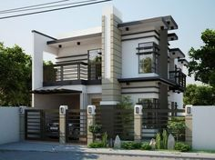 Modern style for the exterior 3 storey house design, minimalist house design, minimalist home Zen House Design, 3 Storey House Design, Two Story House Design, 2 Storey House, Minimalist House Design, Zen Design, Minimalist Interior, Modern Minimalist, Modern Design