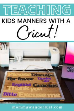 As a travel blogger, many visit my corner of the web for tips on family travel. But when I'm not on the road, I enjoy crafting. I've always loved unique, handcrafted greeting cards and invitations. I'm not a naturally gifted artist and full disclosure… I can't cut a straight line to save my life. But Cricut products helped me to create high-quality, custom invites and party decorations. Once I learned my way around the cutting system, I discovered that Cricut can do so much more than that. Teaching Kids Manners, Manners For Kids, Help Teaching, Road Trip With Kids, Travel With Kids, Family Vacations, Family Travel, Writing About Family, Family Friendly Resorts