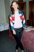 At 19 years old, Kate was flying the flag (literally), for British style.