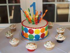 Polka Dot Birthday Supplies, Decor, Clothing: Primary Dots Birthday Boy Party