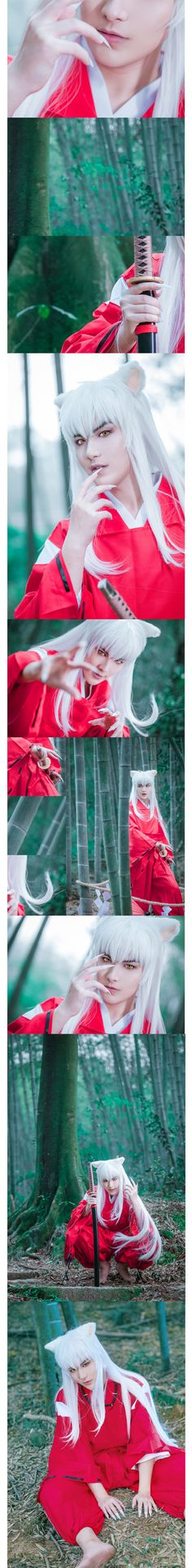 I don't appreciate the sexy Inuyasha facial expressions but the costume and makeup is AMAZING.
