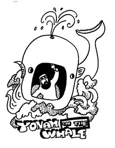 Torah Tots HIGH HOLY DAYS YONAH Coloring page