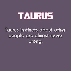taurus daily astrology fact