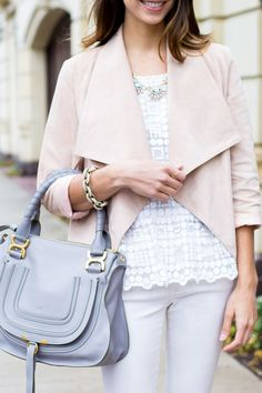 Suede Draped Front Jacket, Chloe Bag | www.thefoxandshe.com