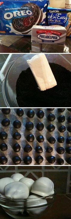 White Chocolate Covered Oreo Balls.