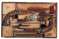Boxed set of percussion dueling pistols