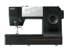 Toyota Super Jeans J15 Sewing Machine. Ergonomic Design for Easy Sewing. Built in Quick Advisor, Built in Needle Thread, Main Power Switch, 15 Stitch Programs. Easy to see Needle Drop Point, Easy to use Large Dials,Levers and Large Sewing Area. Top Loading Rotary System with See Through Cover.