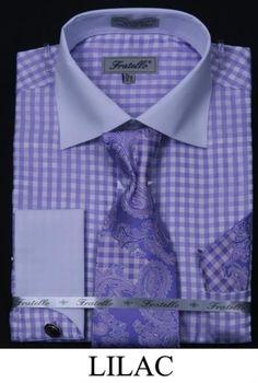 Sku Az1678 White With Red Trim Shirt Tie And Hankie Set