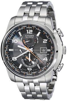 AT9010-52E ciudadano - Reloj hombres Pará, correa de acero inoxidable de color plateado